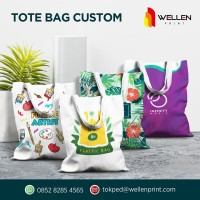 Cetak / Print Custom Tote Bag / Totebag Kanvas / Canvas 35 x 45 cm