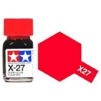 Tamiya Enamel X27 Clear Red 10 ML Cat Gundam Model Kit