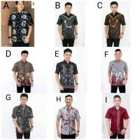 Hem Batik Jumputan Kemeja Batik Pria Lengan Pendek Baju Batik Pria