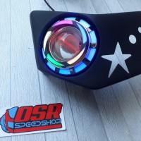 Reflektor ninja rr new + lampu projie ninja rr new
