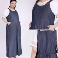 -BAJU IBU HAMIL-Long Dress Hamil Overall - Syifa Maternity TERBARU