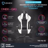 ONEX GX3 Premium Quality Gaming Chair Kursi - Putih