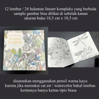coloring book tipis kecil buku mewarnai lineart dewasa animal kingdom