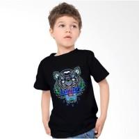 termurah// Baju Kaos Macan Harimau KENZO PARIS Putih Anak Anak Kids