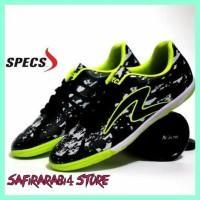 Diskon Sepatu Futsal Pria Specs Barricada Ultima Hitam Hijau