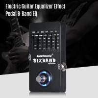 Pedal Efek Gitar Elektrik Equalizer 6 Band EQ Full Metal dengan True