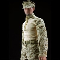 Set Seragam Baju+Celana+Topi Tentara USMC Motif Camo untuk Action