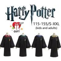 Kostum Cosplay Harry Potter dengan Jubah untuk Dewasa