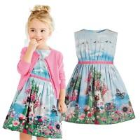 Sedikit Kelinci padang rumput cetak bunga rompi baju anak pakaian