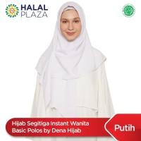 Hijab Segitiga Instant Wanita Basic Polos by Dena Hijab - White