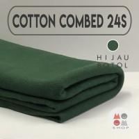 Kain Katun Cotton Combed 24s Bahan Kaos Warna HIJAU BOTOL Meteran
