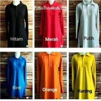 Jumbo XXXL Baju Kaos Krah Tunik Muslimah Polo Lacoste olahraga Busui -