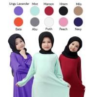 BAJUYULI Baju Muslim Gamis Anak Perempuan Murah Polos Basic Hitam FJBK