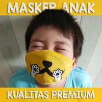MASKER ANAK - BAHAN PREMIUM (CAT - DESIGN UNIK & LUCU)