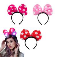 Headband Minnie LED Fuchsia, Pink, Red / Bando menyala - Fuchsia