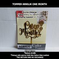 topper/arkilik/one month/tusukan/dekor/kue/puding/cake/bento/tumpeng