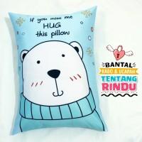 Bantal Kado & Hadiah Romantis Tema Hug Me 2 - 30x40cm - Ready - NO PO