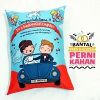 Bantal Kado & Hadiah Pernikahan Tema Cupid - 30x40cm - Ready - NO PO