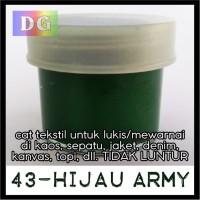 Warna HIJAU ARMY - Cat Lukis / Kanvas / Tekstil utk kaos/tas/sepatu