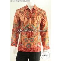 Baju Batik Tulis Sutra Pria Lengan Panjang Furing Size XL LP13172SUWTF