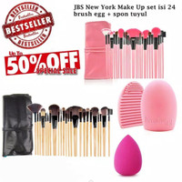 Kuas Makeup Brush 24 Set - Kuas Make Up Set - K048 K001 + Brush Egg
