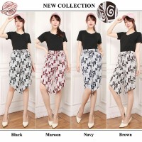 SB Collection Celana Pendek Melani Shortpants Kulot Batik Wanita