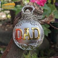 Hadiah untuk cewek DAD pocket watch kado wisuda kado unik