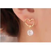 Anting Wanita LOVE B30 Women Stud Earrings Giwang Tusuk Cewe Korea Fas