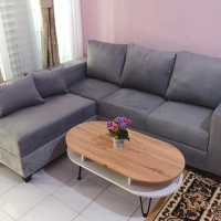Sofa L minimalis, sofa murah