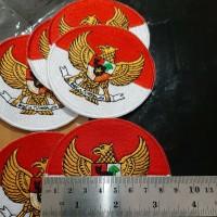 Emblem Badge Bet Logo Atribut Bordir Burung Garuda Pancasila Indonesia