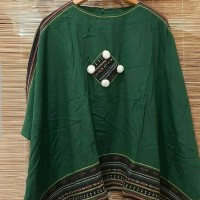 Baju wanita atasan blouse lengan Kelelawar motif tenun bahan lembut