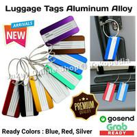 Luggage Tag Aluminum Alloy Metal Travel Bag Tag Name ID Koper Tas