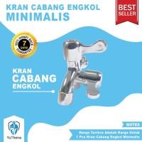 Kran Cabang Engkol Minimalis Murah - Keran Air Double Dua Shower Mandi