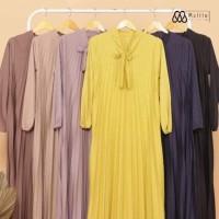 Gamis Plisket Polos - Maxy Dress - Gamis Hyget Super Murah