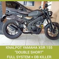 Knalpot racing Yamaha xsr 155 xsr155 model Double Short