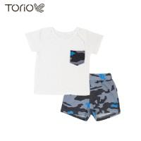 Torio Blue Camo Casual Set - Pakaian Anak Laki Laki Baju Anak Laki Set