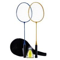 Perfly Raket Badminton Set 100 Yellow Blue Decathlon 2396701