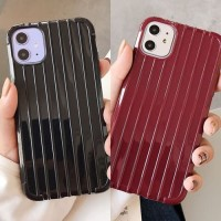FOR OPPO A71, A83, A39/A57, F1S, A37 - LUGGAGE BLACK MAROON SOFTCASE