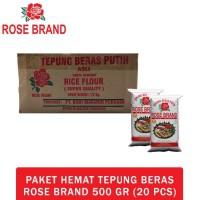 HOT SALE Paket Hemat Tepung Beras Rose Brand 500 Gram (1 Dus)