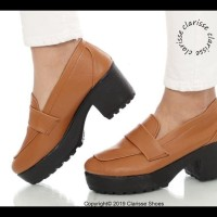 SEPATU HEELS BOOTS WANITA MILANO BOOTS SOL DOCMART 7 CM - Cokelat