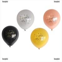 10Pcs Balon Latex Motif Print Tahun Baru Imlek Tahun Baru Ukuran 10