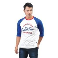T-Shirt Raglan Pria / Kaos Murah / SKY439 / Inficlo Exo