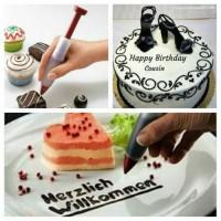 Pen pastry dekorasi kue / pen dekorasi spuit kue ulang tahun cup cake