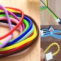 Pelindung kabel Spiral untuk Earphone dan Kabel Charger Warna Warni