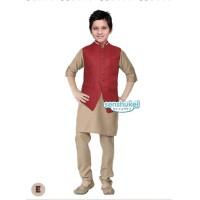 8-13th Setelan Baju Koko India Turki Anak Coklat Senshukei 49 E