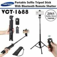 Tongsis Tripod 2in1 Yunteng VCT 1288 Remote Shutter Bluetooth