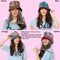 Topi Anti Corona Face Shield Stylish Batik Combinasi