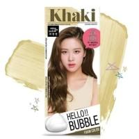 Hello Bubble Hair Color 7K ( Ash Khaki Brown ) Ready Stock