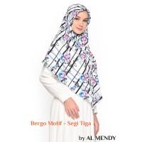 Jilbab Bergo Hijab Instan Motif Segi Tiga / Wolfis