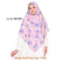 Jilbab Bergo Hijab Instan Motif Model Segi Tiga / Wolfis